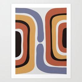 Reverse Shapes II Art Print