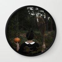hocus pocus Wall Clocks featuring Hocus Pocus by VanessaValkyria