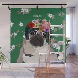 Frida-Pug Wall Mural