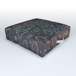 Crystals & Constellations (Nebula) Outdoor Floor Cushion