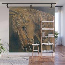 Monochrome Golden Horse Wall Mural
