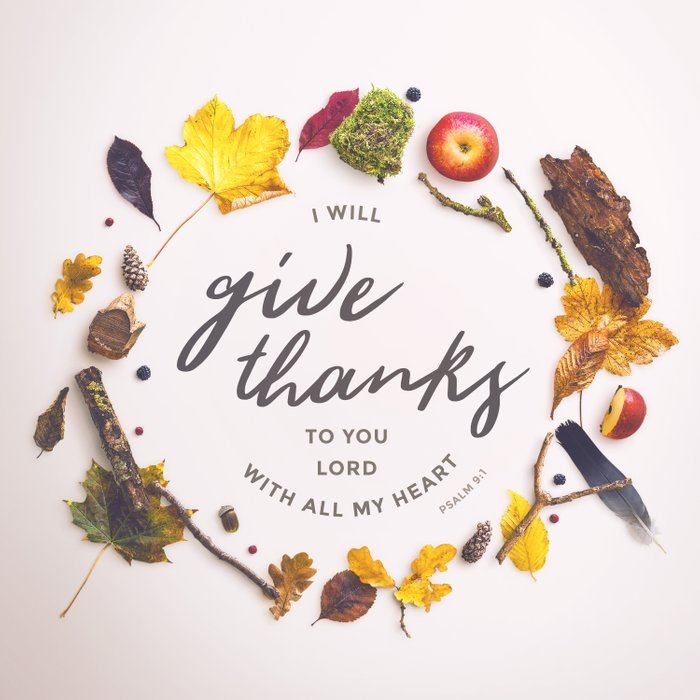 Psalm 9:1 Give Thanks Comforters