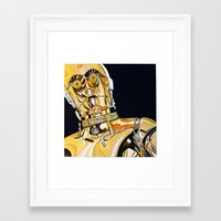 c3po Framed Art Prints featuring C3PO by Laura-A