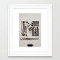 heavy metal Framed Art Prints featuring Heavy Metal by Tom Davie
