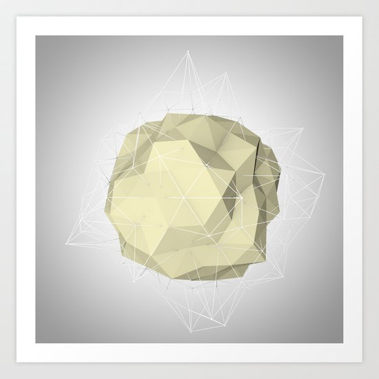 triangle circle Art Print