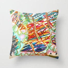 Colorful Fear Throw Pillow