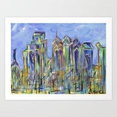 Philadelphia Skyline Painting Art Print