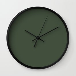 BLACK FOREST dark green solid color  Wall Clock