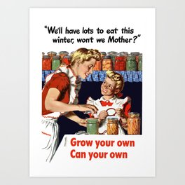 Grow Your Own - Can Your Own Art Print