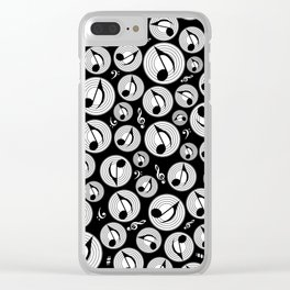 Music Pattern - Black and white #1 Clear iPhone Case