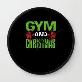 Gym and Christmas Wall Clock