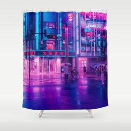 Neon Nostalgia Shower Curtain