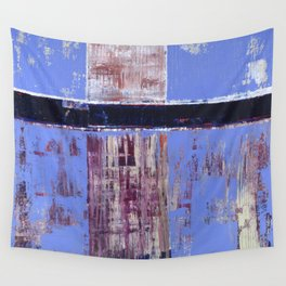 Chagrin Cornflower Blue Abstract Painting Modern Art Wall Tapestry