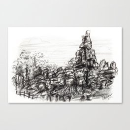 Big Thunder Mountain Canvas Print