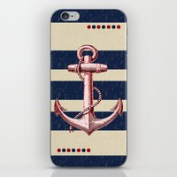 anchors iPhone & iPod Skins featuring Anchors by Katherine Marshall