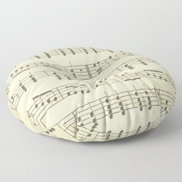 Music Note Pattern Floor Pillow