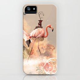 Flamingo land iPhone Case