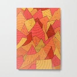 Pumpkin Slices Metal Print