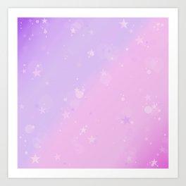 Purple Stars in a Candy Sky Art Print