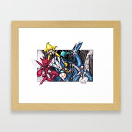 Heart Of Steel Framed Art Print