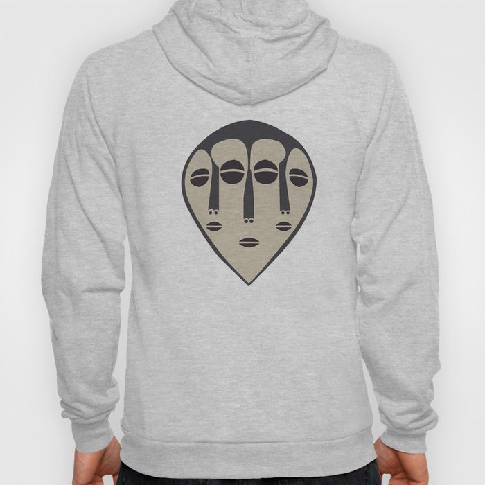 African Tribal Mask No. 5 Hoody