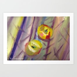 Candy Apple Stripes Art Print