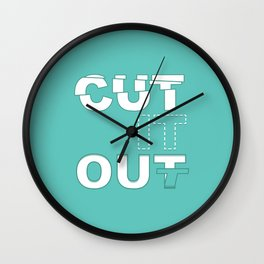 Cut it Out Wall Clock