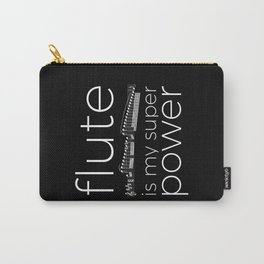 Flute is my super power (black) Carry-All Pouch