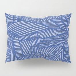 Mud Cloth / Blue Pillow Sham
