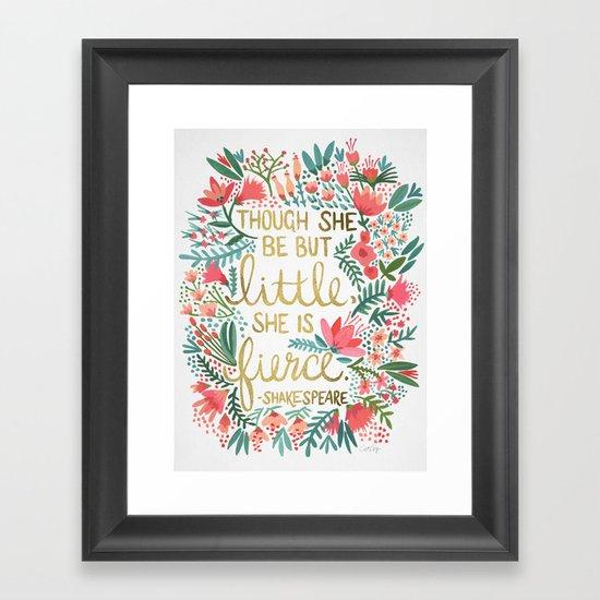 Little & Fierce Framed Art Print