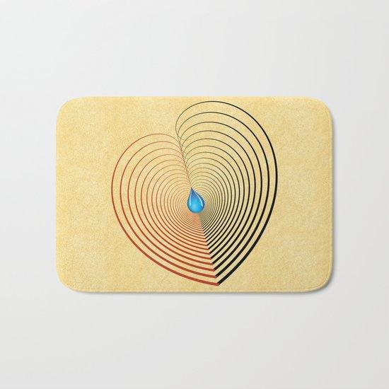 Out of the Blue -- an unbalanced heart Bath Mat
