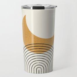 Moon mountain gold - Mid century style Travel Mug