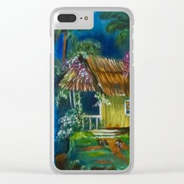 Old Hawaiian Hut, Slippers by the Door Clear iPhone Case