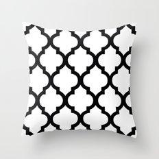 Moroccan B&W III Throw Pillow