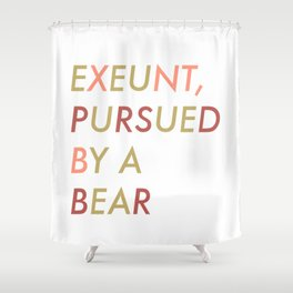 Shakespeare - The Winter's Tale - Exeunt Exit Pursued by a Bear Shower Curtain
