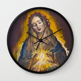 The Mystic Rose Wall Clock