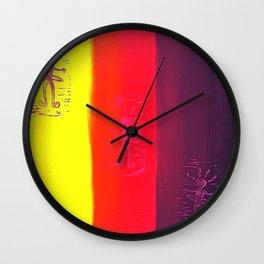Hula Hooping Hippies Wall Clock