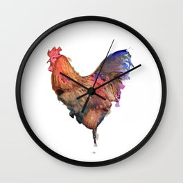 Cockerel Ink Wall Clock