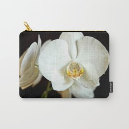 White Phalaenopsis Moth  Orchid Carry-All Pouch