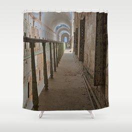 Green Grunge Mile Shower Curtain