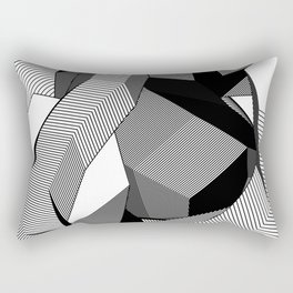 Abstract Geometric 3D Heart Rectangular Pillow