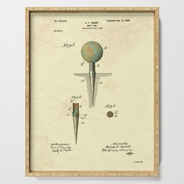 Golf Tee Patent - 1899 Serving Tray