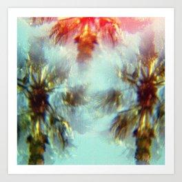 Egyptian Palm Trees Kaleidoscope Art Print