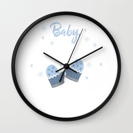 Baby It's Cold Outside Christmas For Holiday Gift Wall Clock
