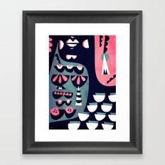 Cocktail silhouette Framed Art Print