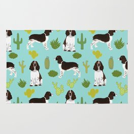 English Springer Spaniel southwest desert cactus pattern by pet friendly Rug
