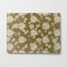 Vintage White Flowers Metal Print