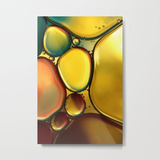 Oil & Water Abstract II Metal Print
