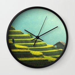 Asian agriculture Wall Clock