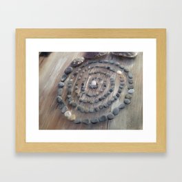 Circle of stones Framed Art Print